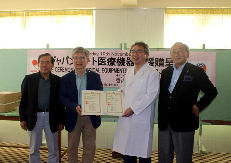 ジャパンハート 麻酔器・電気メス寄贈式典 ミャンマー