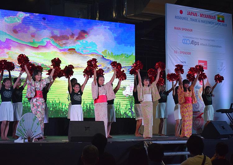 ダンス発表【Japan-Myanmar Resource, Trade & Investment Expo 2019】 dream train