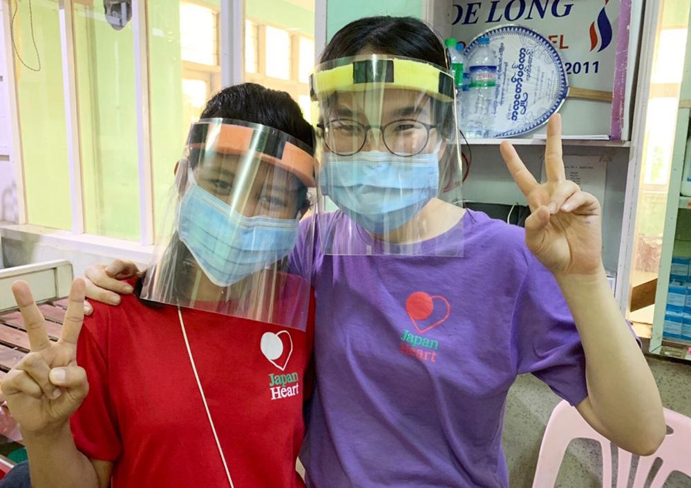 ミャンマーでする新型コロナウイルス対策。