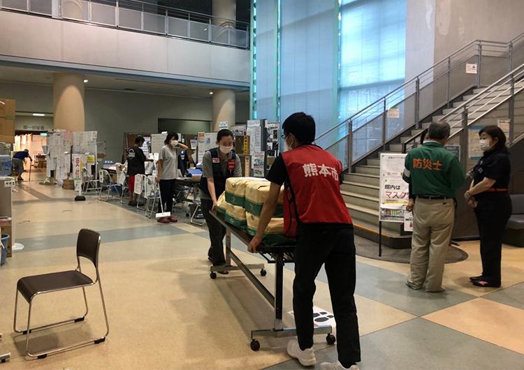 人吉スポーツパレス避難所での医療支援活動開始 | 令和2年7月豪雨