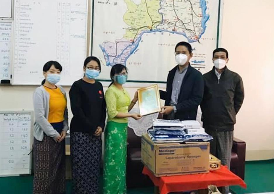ミャンマー 医療施設への物資寄付活動