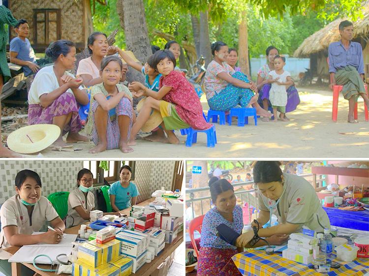 ミャンマー 出張診療 僧院 ジャパンハート