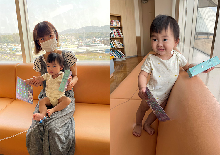 小倉優子さんより医療機関へ子ども用歯磨き粉のご支援をいただきました。